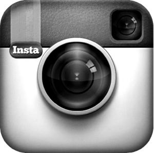 Instagram logo in black and white